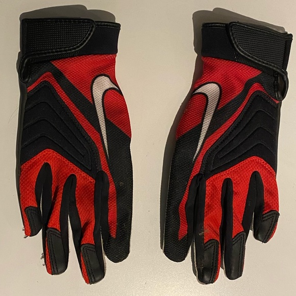 Nike football gloves, women's size medium